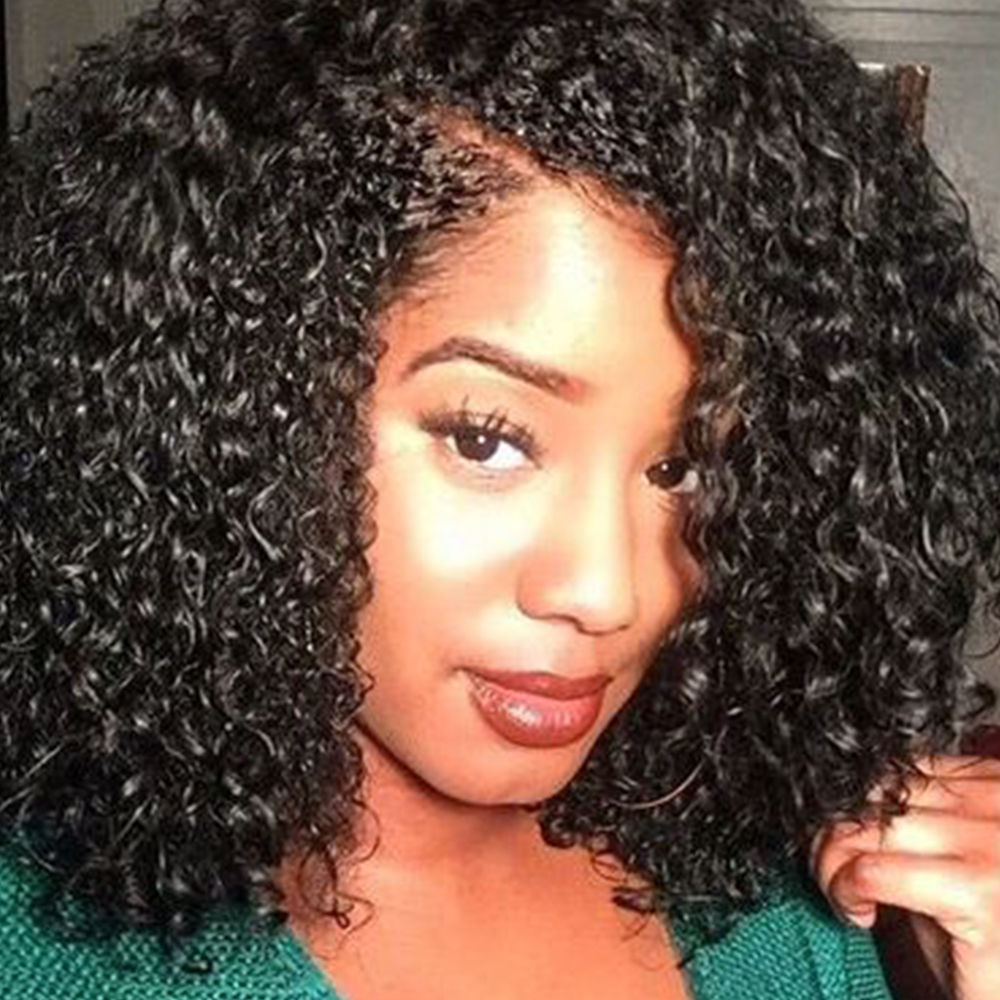 ФОТО Fashion New womens Stylish womens Cut Hairstyle Synthetic Lace Front Wig Medium Long Kinky Curly Wigs for Africans Black Women N