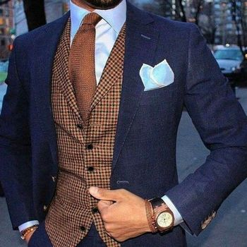 20708f36ca906 2019 Airtailors Kahverengi Balıksırtı Tüvit Yelek Erkek Takım Elbise Yelek  Slim fit Damat giyim Yelek veya Yelek erkek Elbise yelek artı boyutu