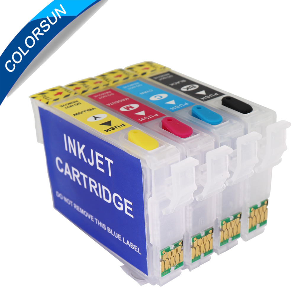 Colorsun T2971-T2964 Refillable Ink Cartridge For Epson XP231 XP431 XP241 XP-431 XP-231 XP-241 Ink Cartridge With One Time Chip