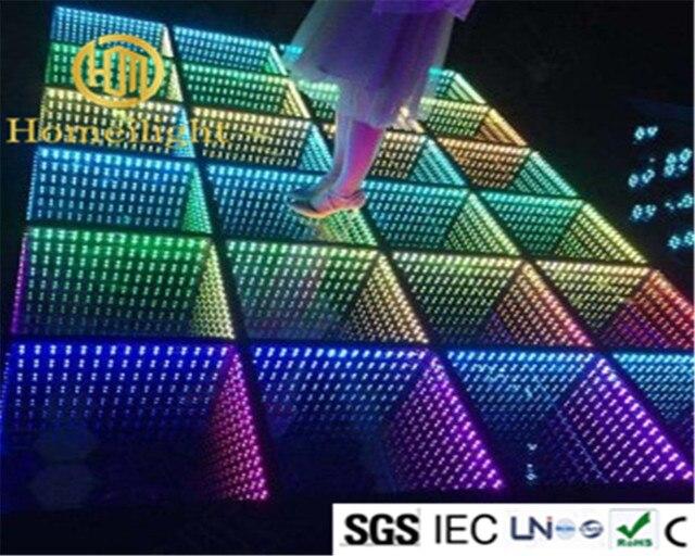 5x5 메터 웨딩 파티 강화 유리 패널 화려한 3d 휴대용 Rgb Led 거울 댄스 바닥 에서5x5 메터