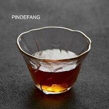 Pindefang Улучшенный японская дзен чашка 75 мл РУЧНАЯ взорван термостойкого Стекло Книги по искусству из Стекло чашки Кунг- фу Чай ware Zen Чай набор чашка