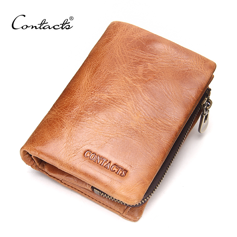 CONTACT'S Fashion Men Wallet Genuine Leather Coin Pures With Card Holder Male Short Wallets 2019 Luxury Brand Man Small Wallets