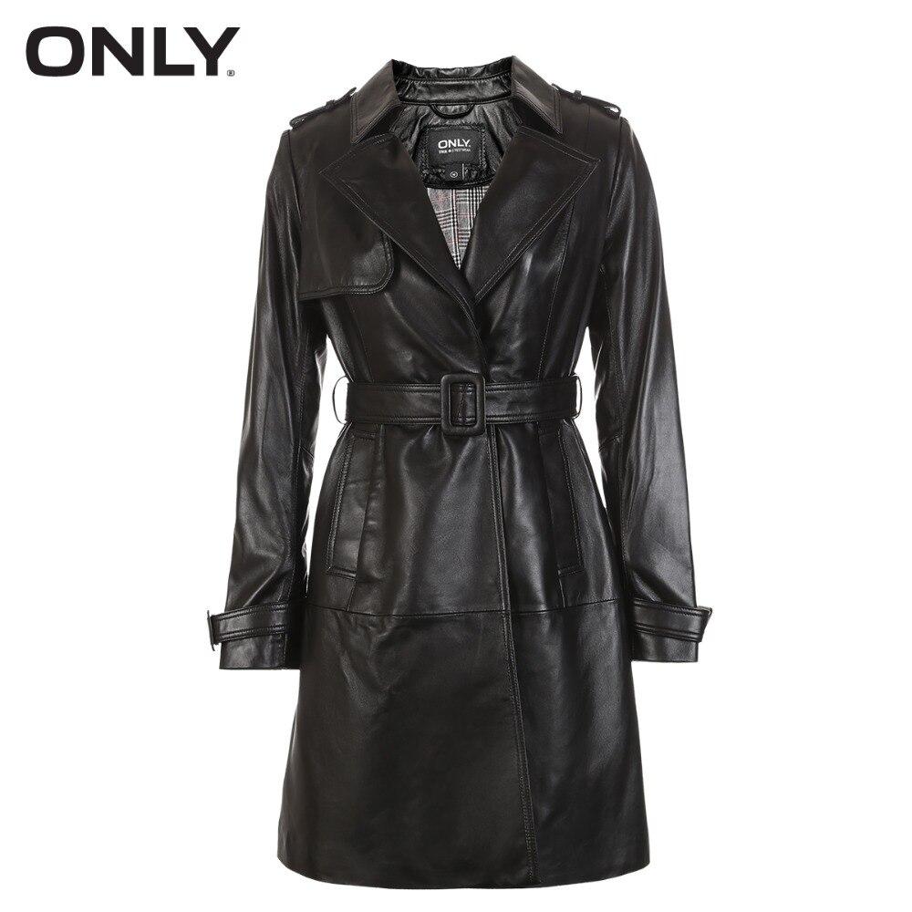 ONLY veste en cuir de mouton à taille boucle pour femme | 118310544 - 5