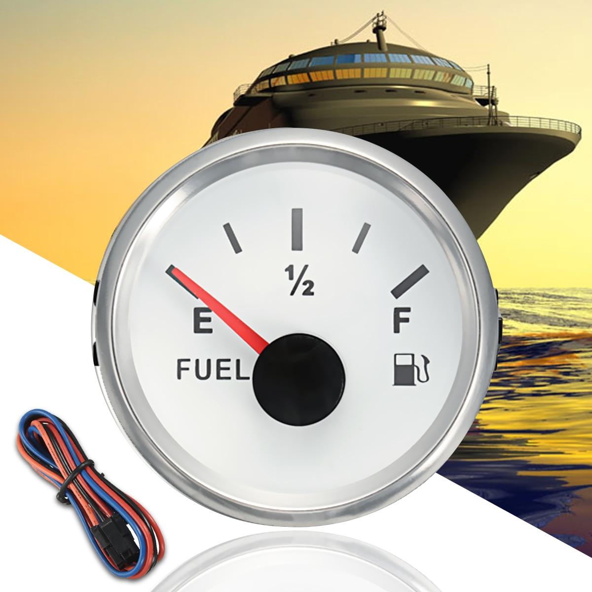 Car Gauge 52mm Oil Gauge Marine Fuel Gauge Boat Truck Oil Tank Level Indicator DC 932V 240-33ohms Boat Accessories