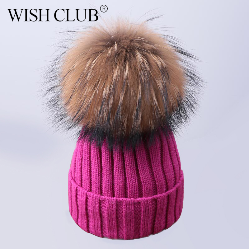 0fee56cc287 Detail Feedback Questions about WISH CLUB Fashion Winter Hat For Women  Solid Knitted Women s Hat Cotton Skullies Beanies Winter Cap Warm Pom Poms  Hats For ...