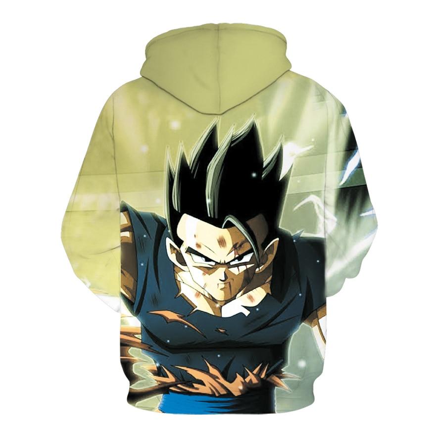 Anime Goku vs Majin Vegeta Saiyan Anime Pullover Sweatshirt Hoodie Sweater