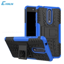 Hard PC Soft TPU Case Rugged Shockproof Armor Hybrid Back Cover For No