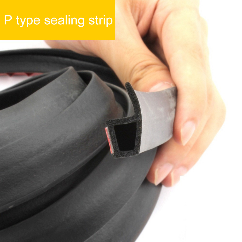 Image 3 - P Type 3M 4M Car Door Sealing Strip Weatherstrip Edge Trim Car Door Rubber Seal Sound Insulation Auto Rubber Seal Strips-in Fillers, Adhesives & Sealants from Automobiles & Motorcycles