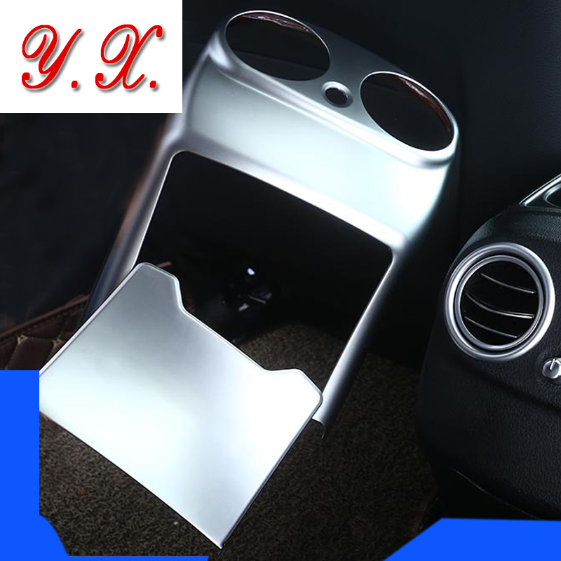 Car Styling Chrome Rear armrest box exhaust outlet decorative Trim Cover Stickers for mercedes w205 c class c180 GLC Accessories car seat cover automobiles accessories for benz mercedes c180 c200 gl x164 ml w164 ml320 w163 w110 w114 w115 w124 t124