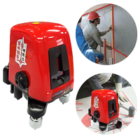 AK435 degree self leveling mini Portable Cross Red Laser Levels Meter 2 line 1 point 635nm Leveling Instrument Level Laser 360