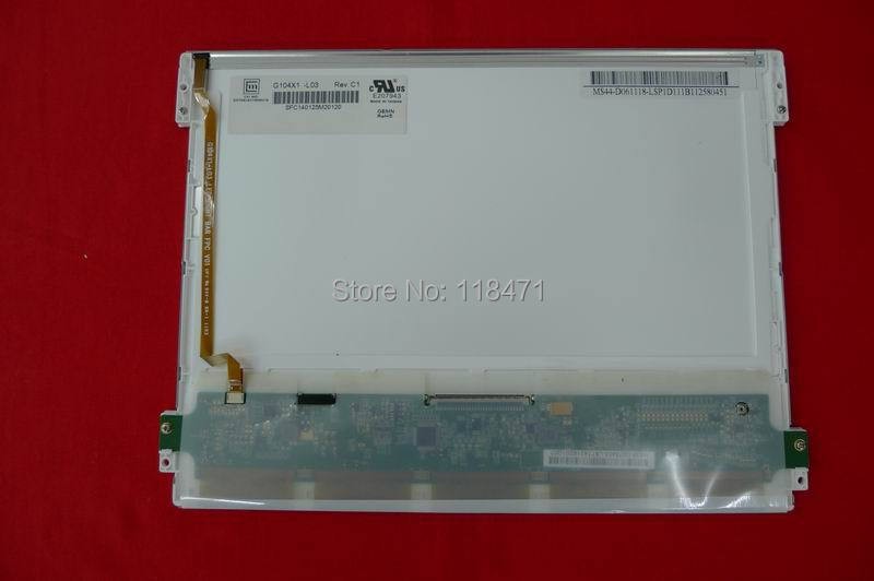 Supply new and original 10.4 inch CHIMEI LCD Panel G104X1-L03 G104X1 L03 LED backlight and resolution 1366*768 ...