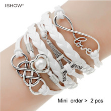 new fashion font b jewelry b font infinite double leather multilayer Charm font b bracelet b