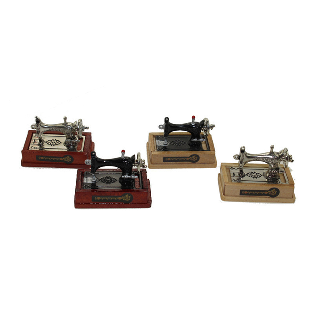 1/12 Dollhouse Miniature Accessories Mini Sewing Machine Simulation Furniture Model Toys for Doll House Decoration1/12 Dollhouse Miniature Accessories Mini Sewing Machine Simulation Furniture Model Toys for Doll House Decoration