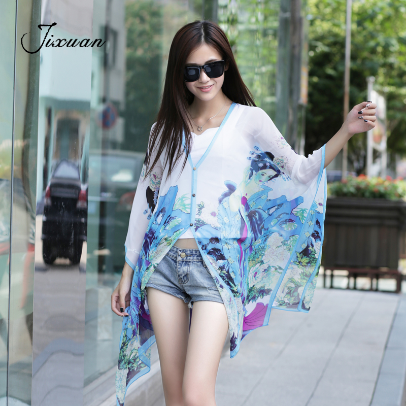 2018 Summer Beach Sunscreen Chiffon Women's Scarf Clothes Spring Fashion Print Silk Scarf Sexy Woman Foulard Femme Pashmina