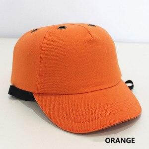 Image 5 - Yumru şapka Çalışma emniyet kaskı ABS Iç kabuk beyzbol şapkası Tarzı Koruyucu Sert Şapka Iş Giysisi Kafa Koruma Top 6 Delikli