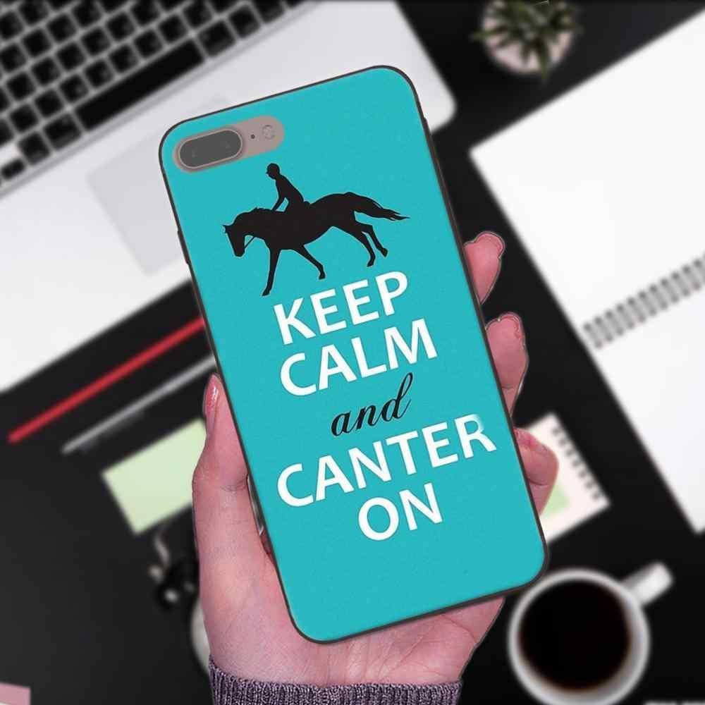 ТПУ оптовая продажа для huawei честь Коврики Примечание 6s 8 9 10 20 P20 P30 Lite Play Pro P smart 2019 сохранять спокойствие и верхом на лошади пони