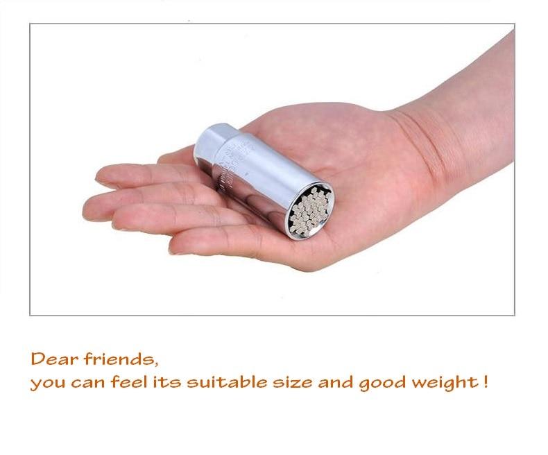 Купить с кэшбэком 9-21mm Universal socket wrench magic spanner Head Set Socket Sleeve Power Drill Multifunctional Hand Tools