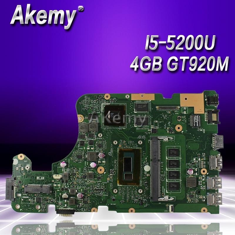 Akemy X555LD Laptop motherboard for ASUS X555LD X555LDB X555LA X555LB X555L X555 Test original mianboard 4G-RAM I5-5200U GT920MAkemy X555LD Laptop motherboard for ASUS X555LD X555LDB X555LA X555LB X555L X555 Test original mianboard 4G-RAM I5-5200U GT920M