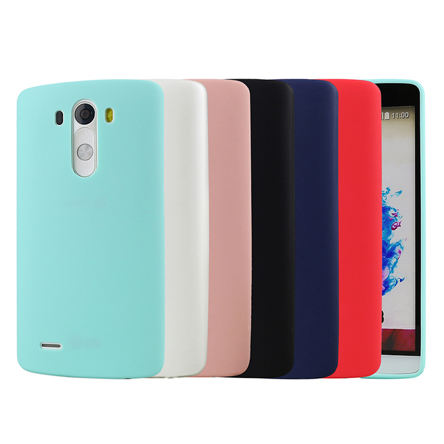 info for 0cc01 96dd1 US $1.28 6% OFF Jderv Soft Silicone Case For LG G3 G4 Ultra Thin Cute  Colors TPU Matte Back Cover Phone Bag Case For LG G3 D855 F400k F400  VS985-in ...