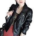 2016 inverno primavera e outono das mulheres pu motocicleta clothing ly912 feminino projeto short slim casaco jaqueta de couro falso