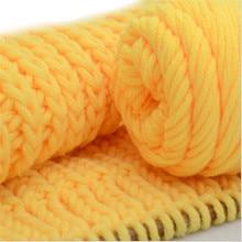 500 г отличная теплая мягкая хлопковая Детская шерсть для вязания пряжа молочный хлопок толстая пряжа для вязания шарфа ручная вязка крючком пряжа