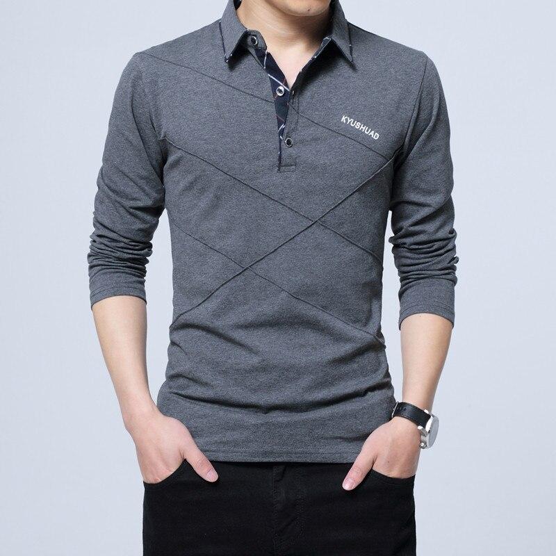 HTB1hAiOaynrK1Rjy1Xcq6yeDVXap 5XL Polo Shirt Collar Men Plus Size 3XL 4XL Autumn Button Brand Men Polo Shirt Long Sleeve Casual Male Shirt Dress Polo Shirts