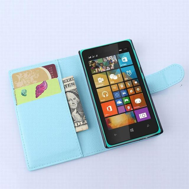 finest selection 70f68 f926f US $4.25  For Microsoft Lumia 435 case cover ,fashion luxury filp Lychee  leather wallet stand phone case cover cell-in Wallet Cases from Cellphones  & ...