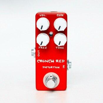 Guitarra Eléctrica MOSKY CRUNCH rojo pedal de efecto de distorsión de guitarra carcasa totalmente de metal Bypass verdadero