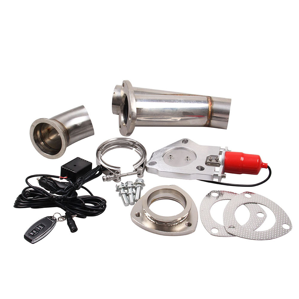 2''/2.25''/2.5''/3.0'' Exhaust Cut Out Aluminuml Header Catback Pair Valve Electric Exhaust Cutout Y Pipe Kit