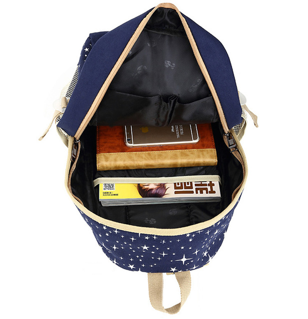 three-piece Luggage & Bag Casual Travel Pack Women Canvas Backpack Schoolbag School Bag For girl Teenagers Rucksack 4