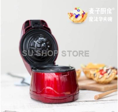 2018 Waffle bowl waffle machine cake machine gift for children red color2018 Waffle bowl waffle machine cake machine gift for children red color