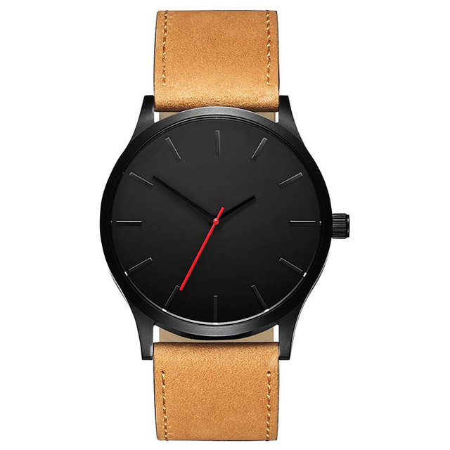 Business Leather Band Wrist Watches for Men