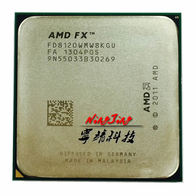 AMD FD8120FRW8KGU/FD8120WMW8KGU Socket AM3 FX-Series FX 8120 3.1 GHz Eight