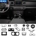 MOPAI молдинги для интерьера из углеродного волокна  декоративный Комплект для салона автомобиля  наклейка для Jeep Wrangler JL 2018 + автомобильные ак...