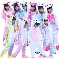 Children Unisex Pajamas Halloween Animal Costumes Unicorn Onesie Sleepwear For Boys Girls