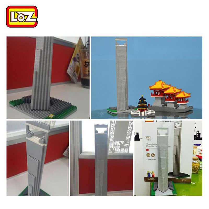 LOZ мини-блок DIY всемирно известная архитектура Шанхайский международный торговый центр SWFC китайская Строительная модель сборочная игрушка 9372