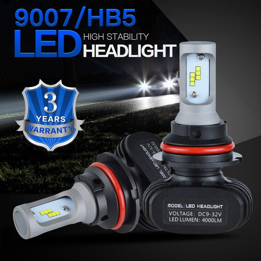 LED Headlight Hi//Lo Bulb Kit 9007 HB5 6000K White For 2005-2010 Chevy Cobalt