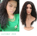 2016Hot saleTop Quality Fiber Curly Wigs half wig 4Color Heat Resistant Synthetic Hair Wigs African American Wig For Black Women
