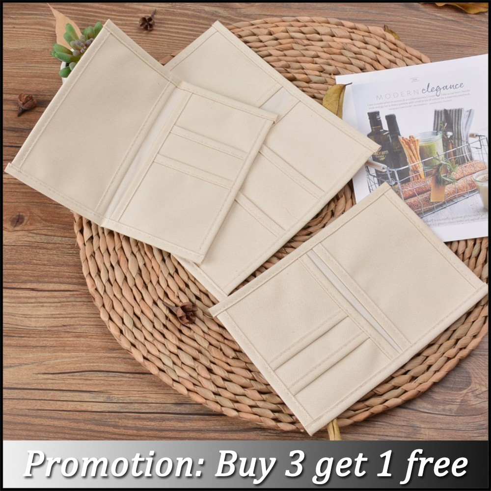 Genuine Leather Notebook Passport Dairy Oxford Fabric Refill Filler Pocket Case Bag Pouch Organizer For Name ID Card, Invoice