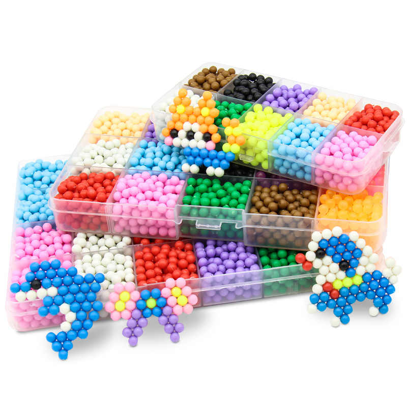 aquabeads Aqua DIY Magic Beads Creative Toy Animal Molds Hand Making 3D Puzzle Aqua Kids Educational Toys for Children Spell QB231 beads
