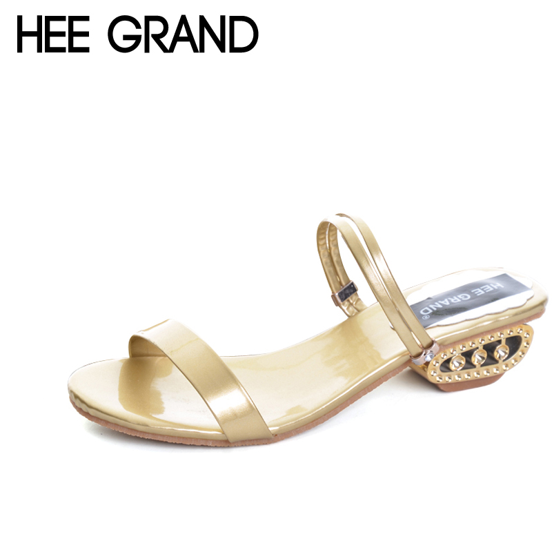 HEE GRAND Gold Silver Gladiator Sandals 2017 Summer Beach High Heels Platform Fashion Slip On Shoes Woman Size 35-41 XWZ4066 hee grand summer gladiator sandals 2017 new beach platform shoes woman slip on flats creepers casual women shoes xwz3346