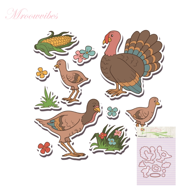 Clear Stamps for DIY Scrapbooking Bird Silicone Stamp Metal Cutting Dies Stencil Frame For Scrapbook Album Decor bird big size scrapbook diy farm sellos carimbo acrylic clear stamps for photo timbri scrapbooking stamp