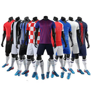 Shinestone breathable men s soccer jersey sets Sports clothes polyester  soccer jersey 6f50a1007