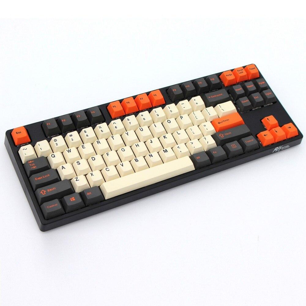 Углеродистая Толстая PBT двойная съемка 106 Keycaps Cherry профиль MX переключатели Cherry NOPPOO/Flick/Ikbc Keycap только продажа keycaps