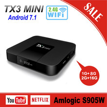 Tanix TX3 Mini Android 7.1 OS Amlogic S905W Smart TV Box 2G RAM 16G ROM Quad Core DDR3 2.4G/5G Wifi H.265 4K HD Media Player(China)