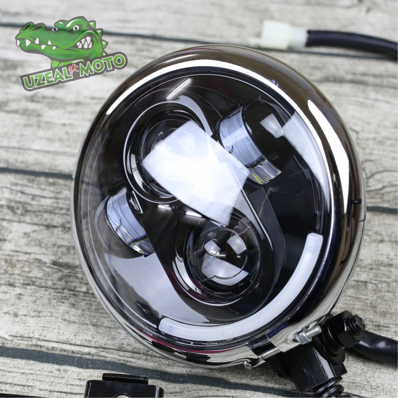 883 Universal Vintage Motorcycle Headlamp 5.75 Inch LED Super Bright Motorbike Headlight Classic Bobber Mototcycle Headlamp