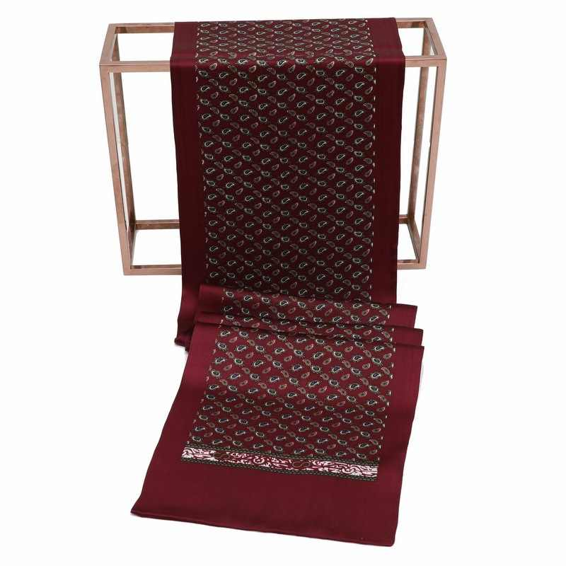 DANKEYISI ผ้าไหมผ้าพันคอผู้ชายธุรกิจผ้าไหมธรรมชาติผู้ชายผ้าพันคอ Casual Royal Paisley Foulard พิมพ์ Cachecol ผ้าพันคอยาวผ้าพันคอ