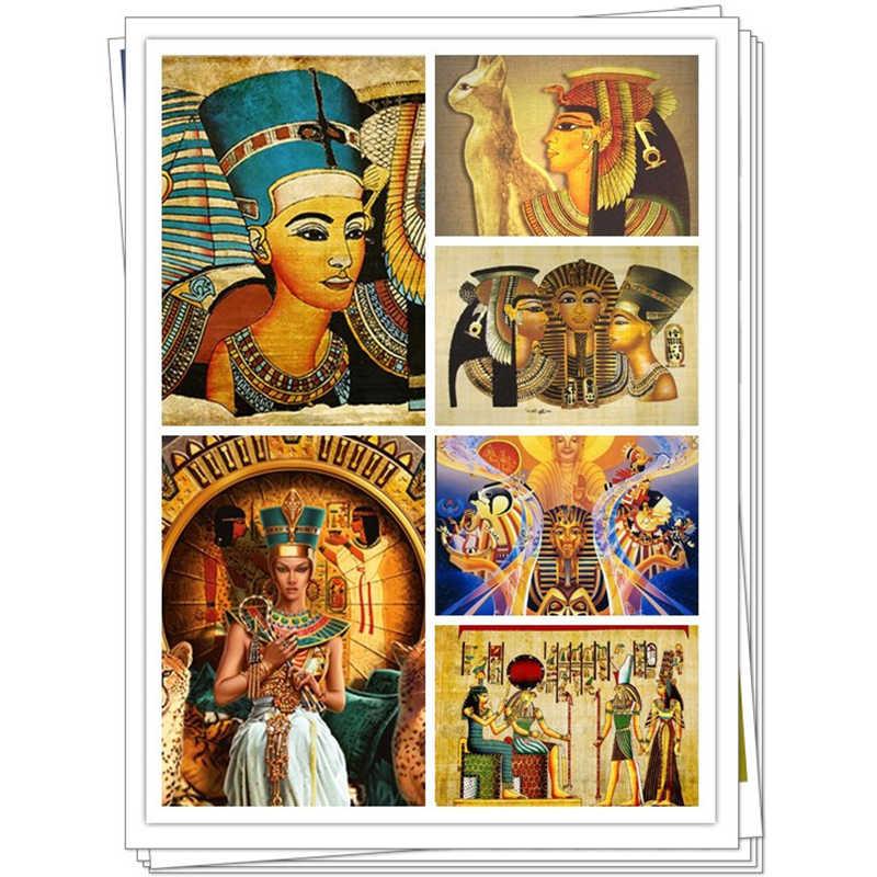 """كامل مربع الماس 5D DIY الماس اللوحة """"المصري فرعون"""" 3D التطريز عبر الابره فسيفساء اللوحة ديكور ZT"""
