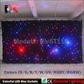 6x4 M RGBW colorido/Branco LEVOU Estrela Cortina de pano de Fundo Do Casamento decoração para eventos