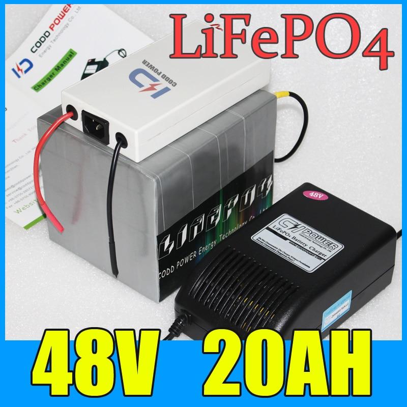 48v 20ah lifepo4 बैटरी पैक 1000W - साइकिल चलाना
